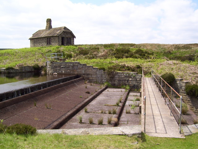 Slotted spillway at Middle Moss