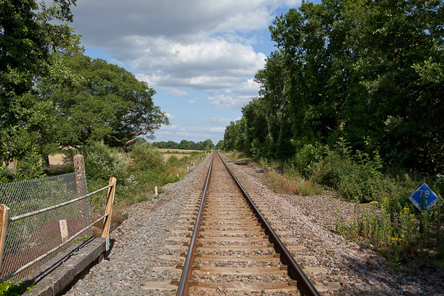 Railway line at Crampmoor