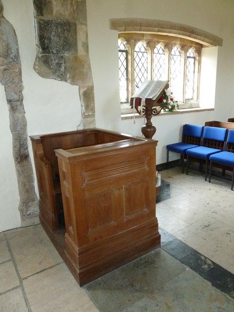 All Saints, Dibden- the incumbent's chair