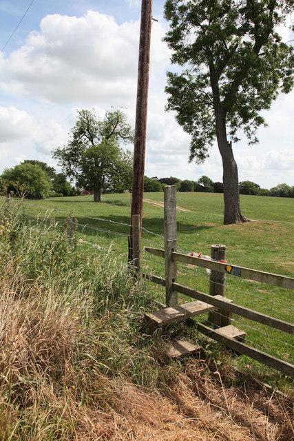 Stile leading onto grazing land