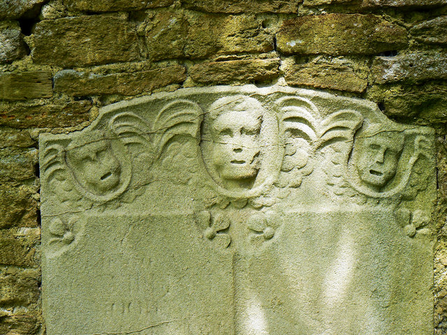 The upper part of a memorial stone, St Bartholomews Church, Corsham