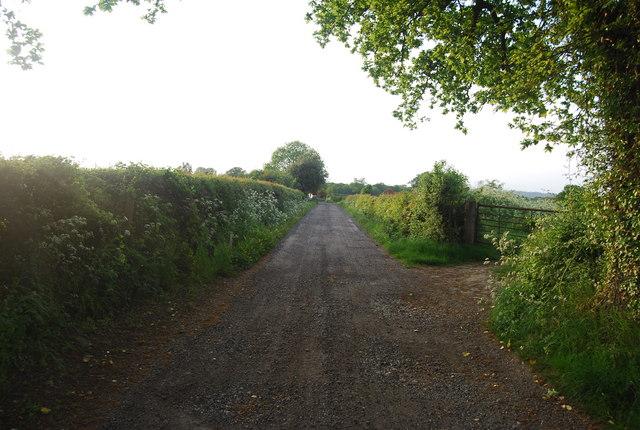 Track to Charcott Farm