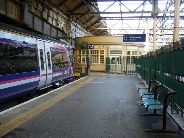 Waverley Station platform 12