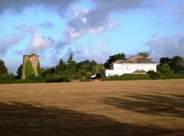 Old windmill tower, Churston Common