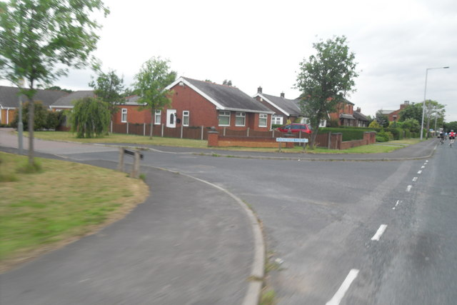 Junction of Leyland Lane & Lanchester Court