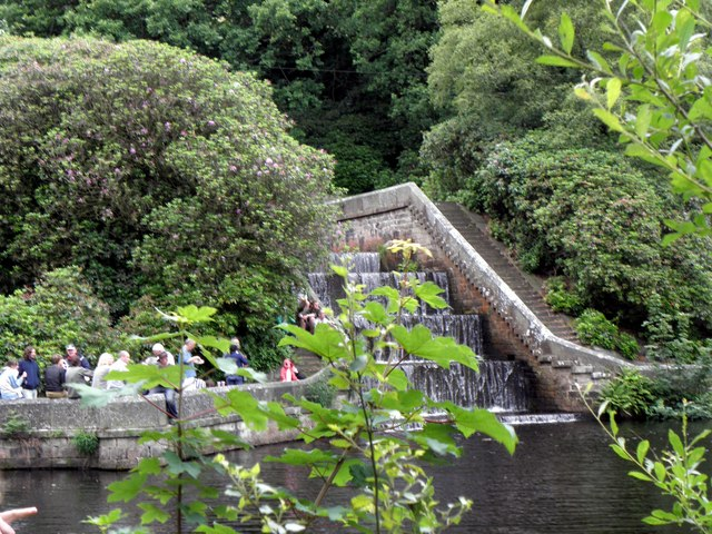 Elaborate Artificial Waterfall at Castle Carr