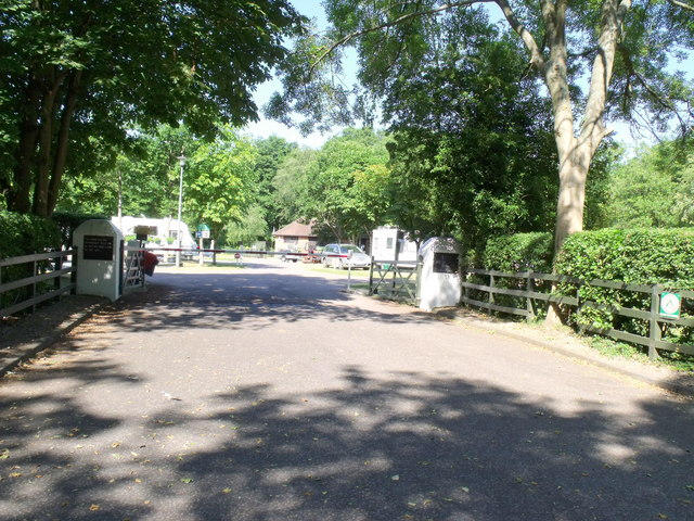 Entrance, Four Oaks Caravan Club site, Henley