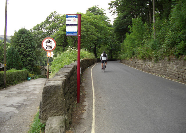 Bus stop on Midgehole Road, Hebden Bridge