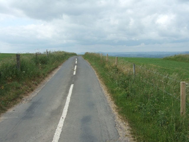 Road past Eggardon Hill