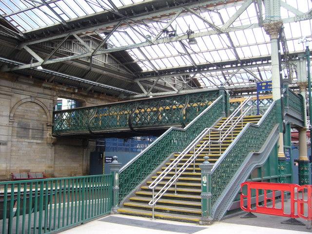 Waverley Station steps and footbridge