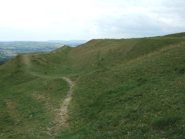Bank and ditch of Eggardon Hill