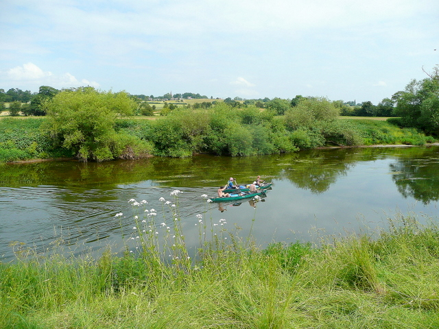Paddling down the Wye