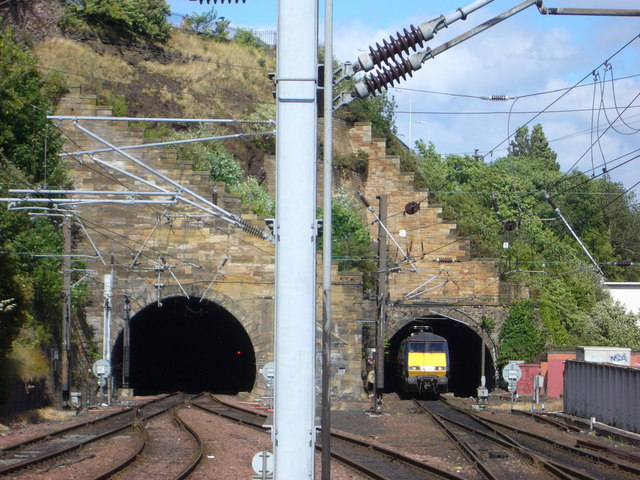 Train emerging from the Calton Tunnel - Act Two