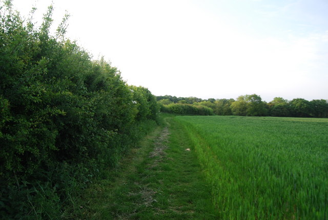 Footpath north of Charcott