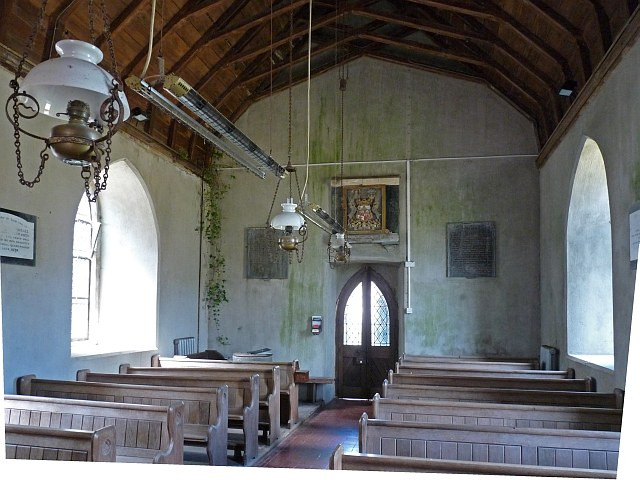 Interior of St. Cwrda's Church