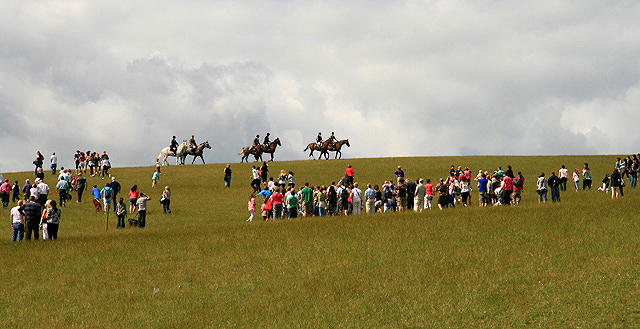 Riders on Gala Hill