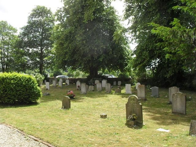 Gravestones in Poulton churchyard