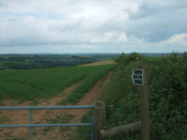 Public route to public path on Eggardon Hill