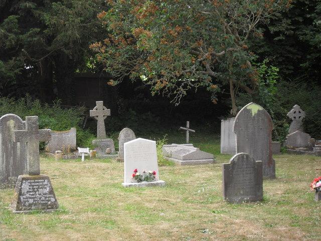 Gravestones in Poulton churchyard (2)
