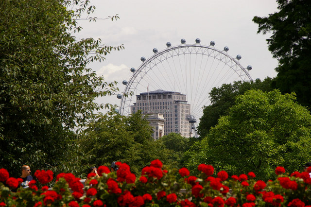 Garden in The Mall with London Eye