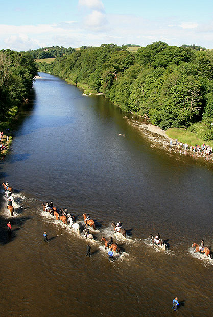 Crossing the River Tweed at the Braw Lads' Gathering
