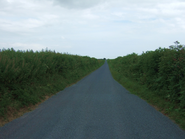 Roman road west of Compton Valence