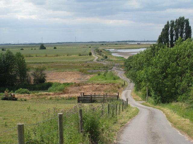View towards Trent Falls, Alkborough