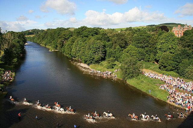 Fording the River Tweed at the Braw Lads' Gathering