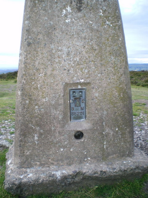 Benchmark/Flush Bracket on Pole Bank trig