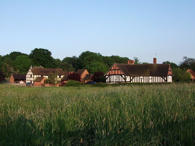 Moat Farm and barns, Hob Lane, Burton Green