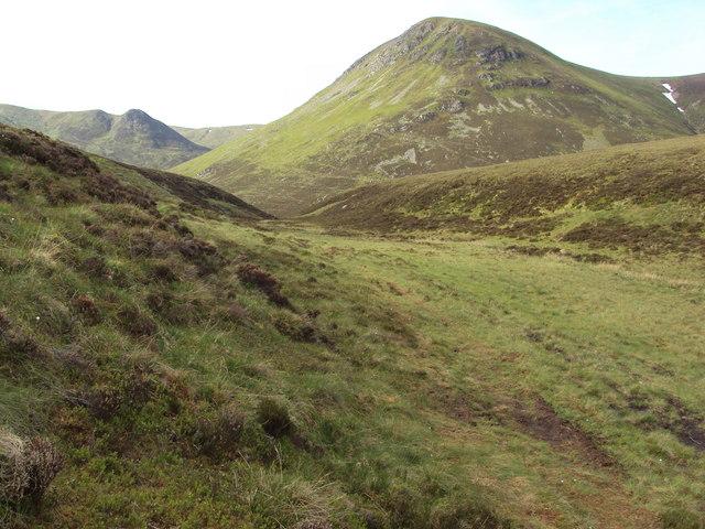 Shallow valley in Glen Ballach