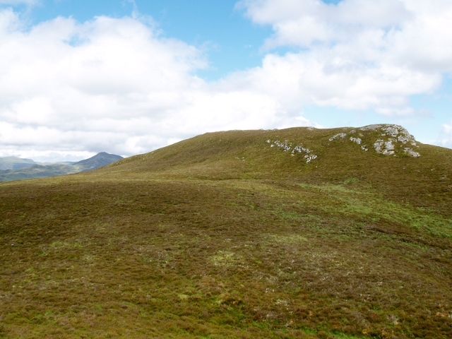 Approaching the summit of Meallach Chaitrine