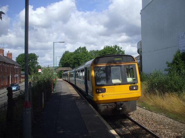 Train in Dingle Rd Station, Penarth