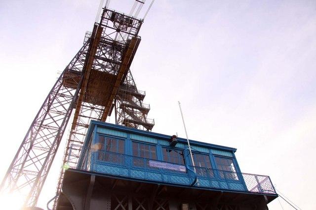 The control cabin on the transporter bridge