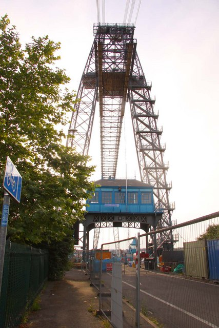 The transporter bridge in Newport