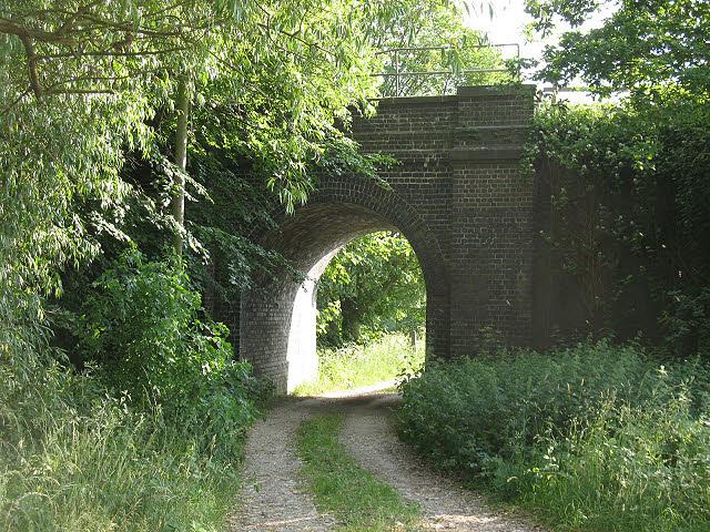Railway bridge over a farm track
