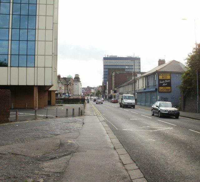 Western end of Caerleon Road, Newport