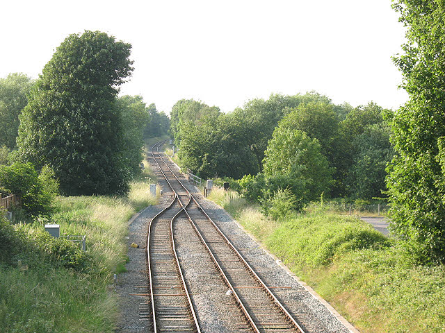Single track to Northwich