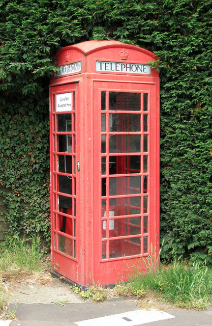 K6 telephone box in The Street, North Cove