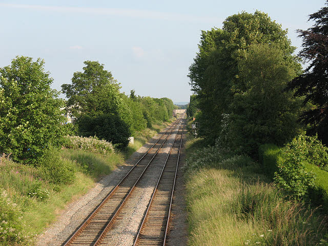 Railway through Middlewich