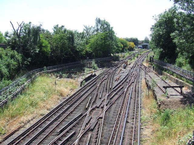Tracks to Morden depot