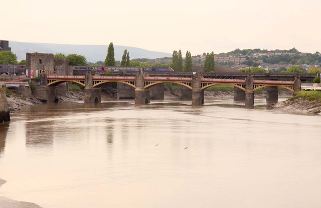 Bridges over the River Usk by Newport Castle