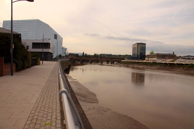 The River Usk in Newport