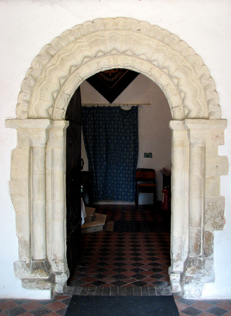 St Botolph's church in North Cove - Norman doorway
