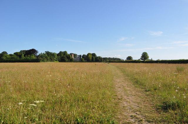 Path to Burgh Castle Church