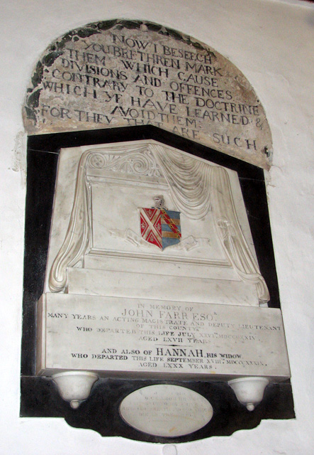 St Botolph's church in North Cove - memorial