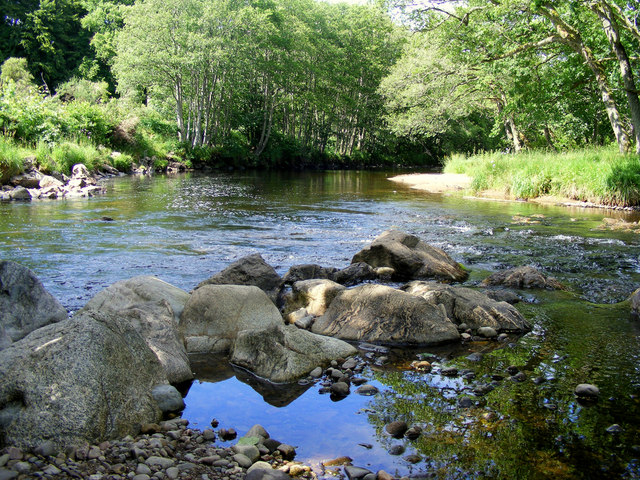 The River Nairn at Kilravock Castle