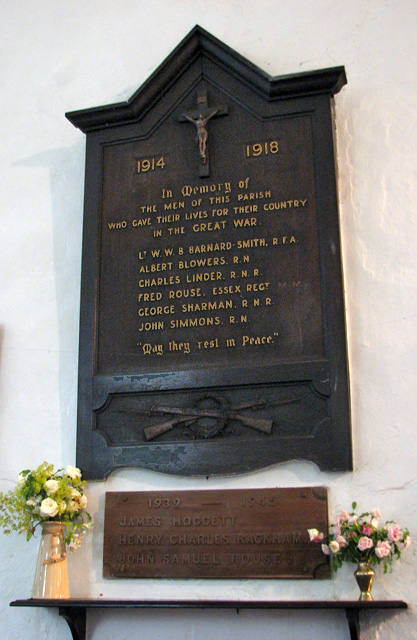 St Botolph's church in North Cove - war memorial