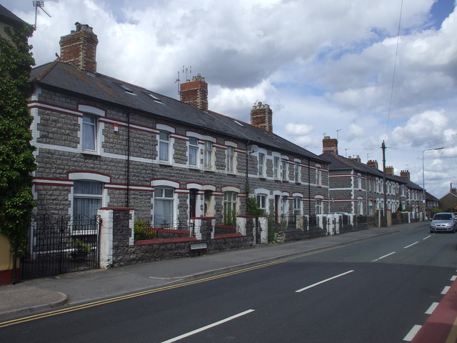 Terraced houses, Redland Rd, Penarth