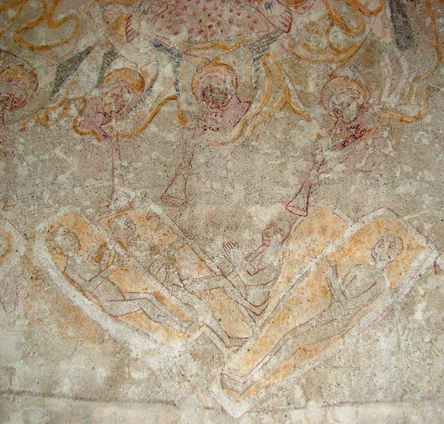 St Botolph's church in North Cove - C14 wall painting